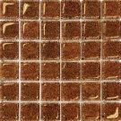 Mosaic 2X2 GLASS AG BROWN (BubbleGlass) 12x12