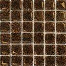 Mosaics 2X2 GLASS AG DARK BROWN (Bubble Glass) 12x12