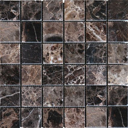 Mosaics 2X2 MARBLE EMPERADOR DARK (Polished) 12x12