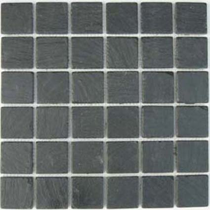 Mosaics 2X2 SLATE BLACK (Tumbled) 12x12