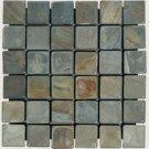 Mosaics 2X2 SLATE RUSTIC GOLD (Tumbled) 12x12