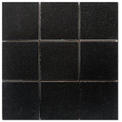 Mosaic 4X4 GRANITE ABSOLUTE BLACK (Polished) 12x12