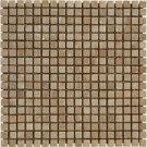 Mosaic 5/8 TRAVERTINE TUSCANY WALNUT (Tumbled)12x12