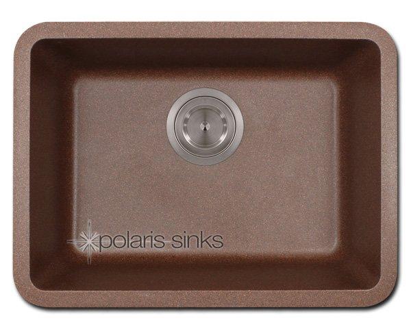 POLgranite P818 Brown Single Bowl Sink