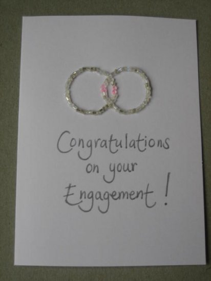 Handmade Card - Engagement