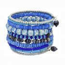 Light Blue Bone and Bead Bracelet