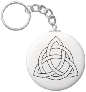 2.25 Inch Triquetra Celtic Knot Keychain
