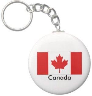 2.25 Inch Canada Flag Keychain