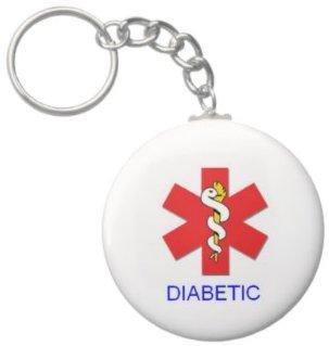 2.25 Inch *Alert* Diabetic Medical Keychain