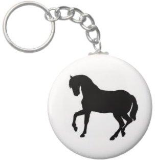 2.25 Inch Horse Silhouette Keychain