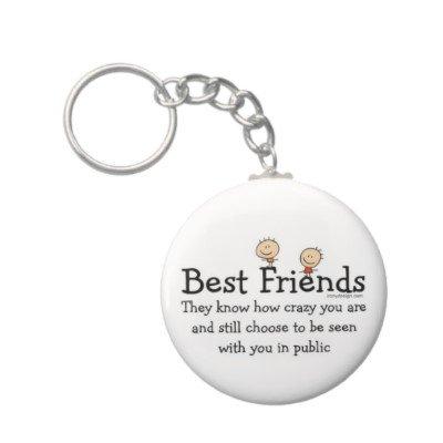 2.25 Inch Best Friend Keychain