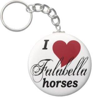 2.25 Inch I Love Falabella Horses Keychain