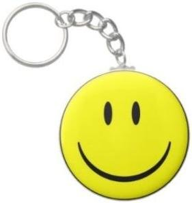 2.25 Inch Happy Face Keychain
