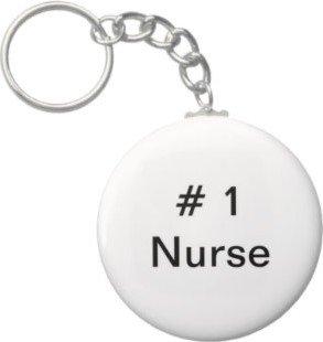 2.25 Inch # 1 Nurse Keychain