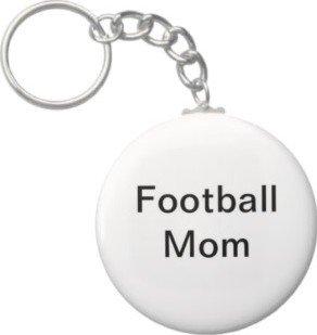 2.25 Inch Football Mom Keychain