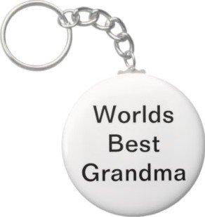 2.25 Inch Worlds Best Grandma Keychain