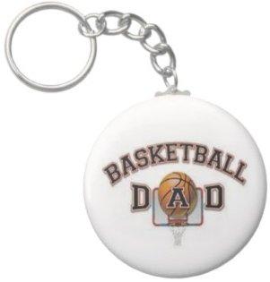 2.25 Inch Basketball Dad Sports Keychain