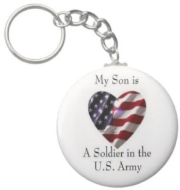 2.25 Inch My Son is a Soldier in the US Army Keychain