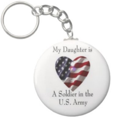 2.25 Inch My Daughter Soldier in the US Army Keychain