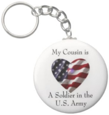 2.25 Inch My Cousin Soldier in the US Army