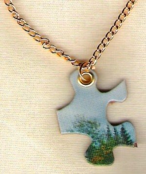 Puzzle Piece Necklace .... into the woods