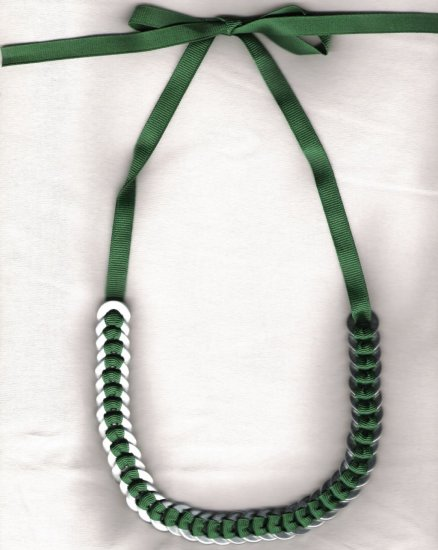 Washer Necklace - Rich Green