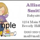 Personalized BABYSITTER Calling Cards