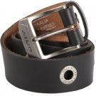 L / XL Unit Riders MX Howitzer Mens Black Leather Belt