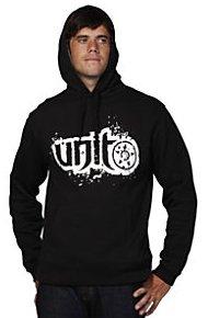 Size Large - Unit Riders MX Shred Black Pullover Hooded Sweatshirt Hoodie Hoody - L
