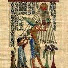Akhnaton Worshiping Aton Egyptian Papyrus