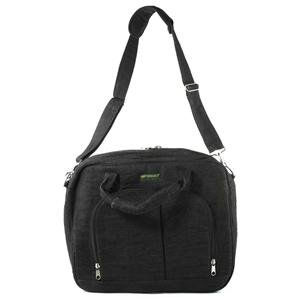 Padded Hemp Computer Bag - Black