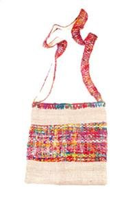 Hemp & Recycled Silk Solo Shoulder Bag