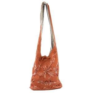 Pin Stripe / Orange Cotton Reversible Bag