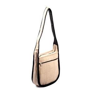 Hemp Shoulder Bag - Outside Piping