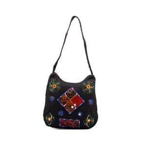 Hemp Shoulder Bag-Black