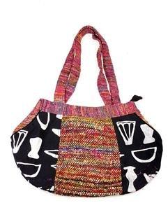 Cotton & Silk Round Ladies Bag