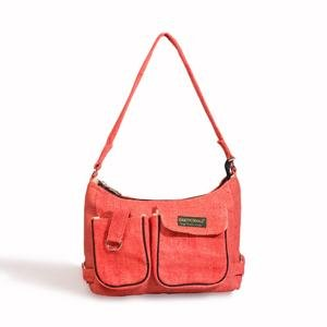 Hemp Handbag w/ front pockets - Pink