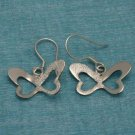 Sterling Silver Butterfly Dangle Earrings .925 From Taxco, Mexico