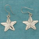 Sterling Silver Star Dangle Earrings .925 From Taxco, Mexico