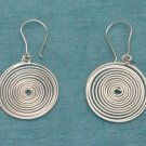 Sterling Silver Spiral Dangle Earrings .925 From Taxco, Mexico