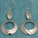 Mexican Sterling Silver Dangle Cirlce Earrings Taxco MX