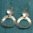 Sterling Silver Dangle Circular Earrings Taxco Mexico