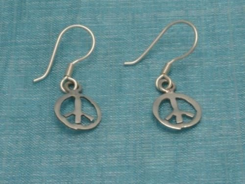 Sterling Silver Peace & Love Earrings Taxco Mexico .925