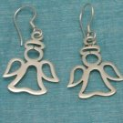 Mexican Sterling Silver Angel Dangle Earrings Taxco 925