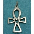 Sterling Silver Egyptian Cross Pendant .925 Taxco Mx