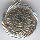 Sterling Silver AZTEC MAYAN Calendar Pendant .925 Taxco