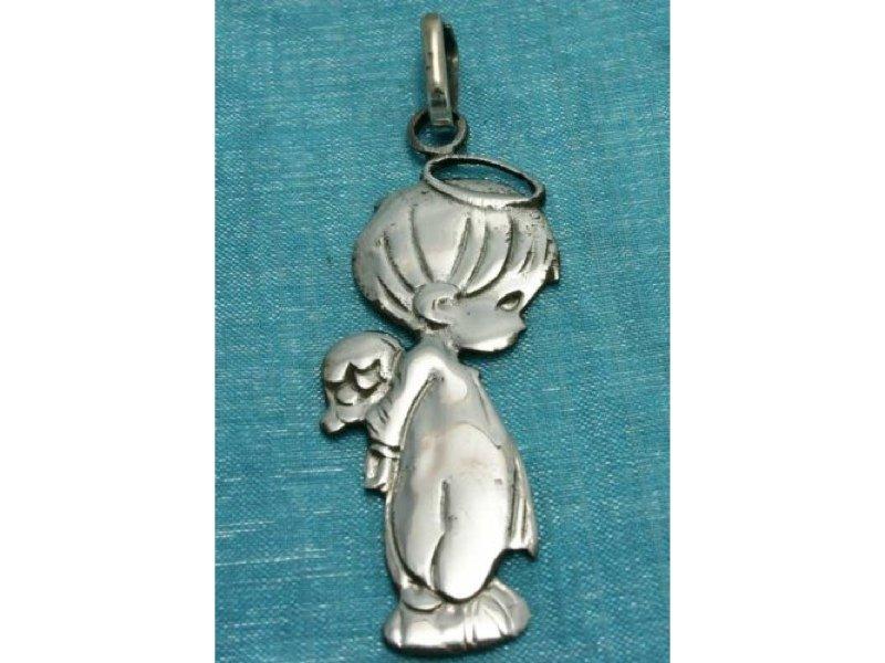 Sterling Silver Boy Angel Charm Pendant .925 Taxco