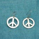 Mexican Sterling Silver Peace & Love Dangle Earrings