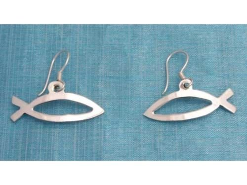 Sterling Silver Fish Dangle Earrings Taxco Mexico .925