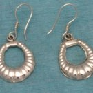 Sterling Silver Shell Dangle Earrings From Mexico .925